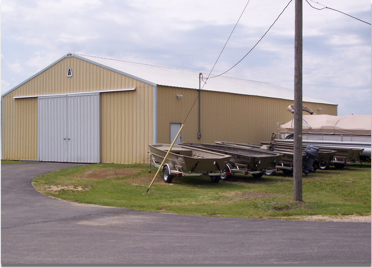 Bob's Marine in Bellevue, IA | First Storage Building @ Bob's Marine in Bellevue, Iowa